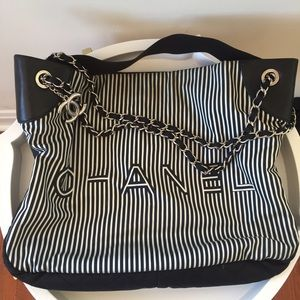 💯 Authentic!!! Black and White Chanel bag.