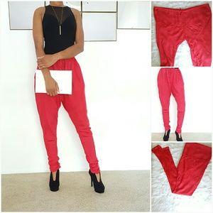 Pants - Red Harem Pants