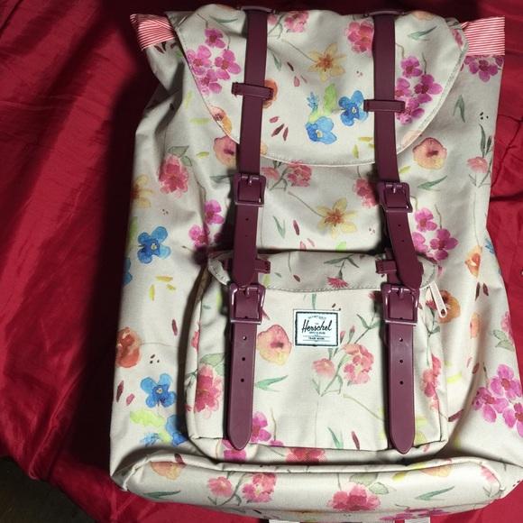 0096c29f83d0 Herschel Supply Company Handbags - Herschel Supply Co Little America Floral  Backpack