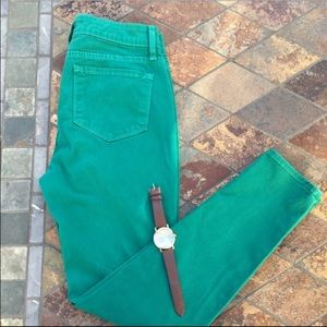 Blue Essence Pants - 🍀Green Skinny Twill Ankle Jeans