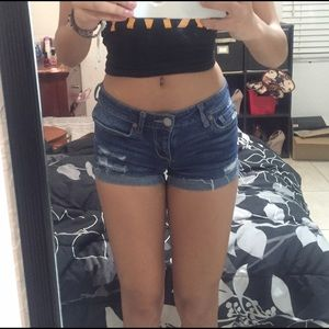 Jean short shorts with tears Size:00