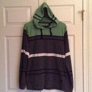 Micros Other - Micros striped long sleeve tee hoodie