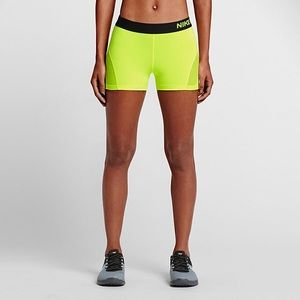 96294f8660 Nike Shorts - Nike Pro Neon Yellow Compression Shorts