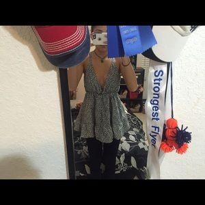 Low V Cut Blouse Size: M