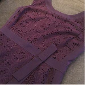 Eggplant lace dress