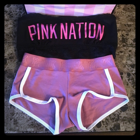 09d40c0ee0bb1b New Victoria s Secret pink bandeau and panty set