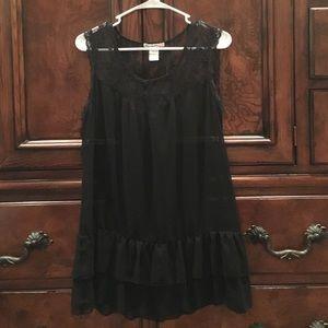 Love Squared Tops - Pretty black sleeveless shirt.