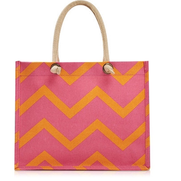 ulta - Orange and pink canvas tote bag from suggested user's ...