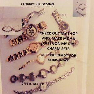 Jewelry - Women 925S SilverPlated DIY Watch and Bracelet Set