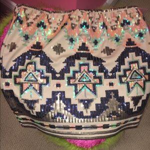 Dresses & Skirts - SEXY BLING elastic mini skirt!!!!