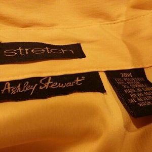 98746c85a6a Ashley Stewart Tops - Gorgeous honey yellow button down blouse 20w
