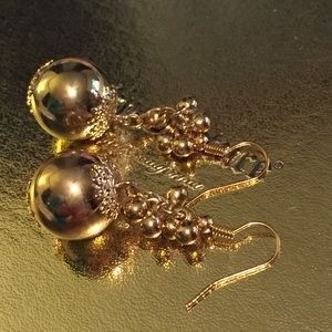 GREAT FOR CHRISTMAS! ANTHROPOLOGIE BALL EARRINGS
