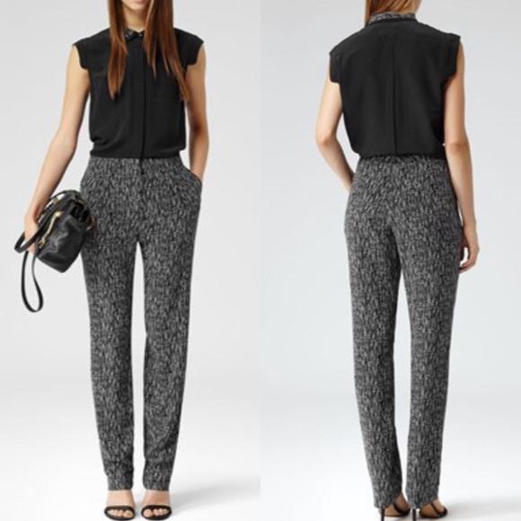 0b09afb4965 🎉SALE🎉 Reiss Black   White Silk Jumpsuit. M 57e9b59ff092828db70003f1