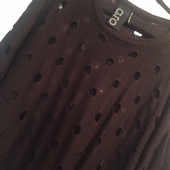 A RO - Black sweater with holes from Monique's closet on Poshmark