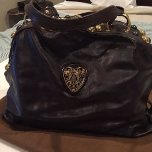 541163d7d59 Gucci Brown Babouska Medium Heart Dome Satchel Bag