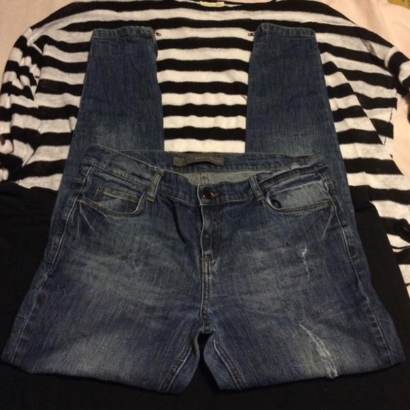 2a82fc59 Zara Jeans | Basic Zipper Ankle Skinny Sz 8 | Poshmark