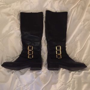 INC black leather boots, size 5.5