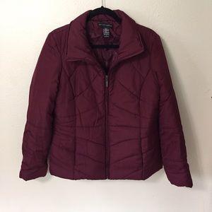 New York & Company Jackets & Blazers - New York & Company Burgundy Puffer Jacket