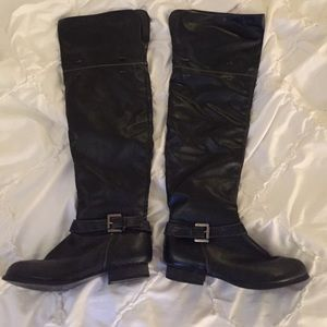 Black over the knee boots, size 6