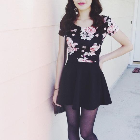 Forever 21 Skirts - F21 Black Skater Skirt