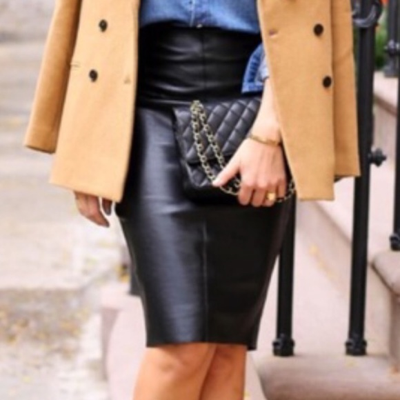 80% off Petite Sophisticate Dresses & Skirts - Black Leather ...