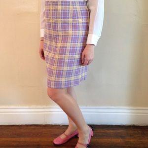 24HR SALE90s Vintage Pastel Purple Plaid Skirt