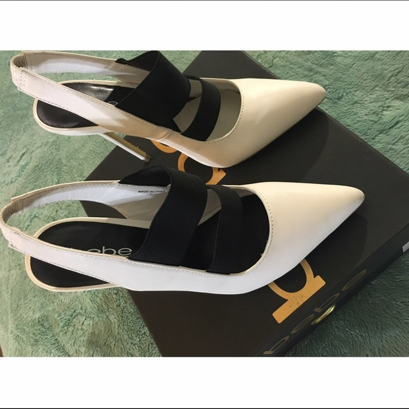 bebe Shoes - Bebe White Stilettos