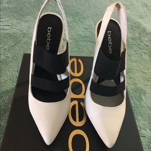 bebe Shoes - Bebe White Stilettos
