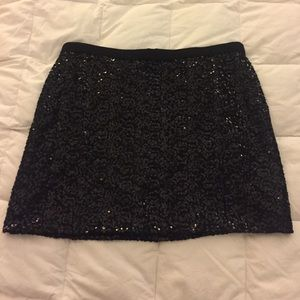 Sequined J. Crew Mini Skirt