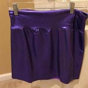 American apparel purple metallic skirt
