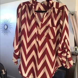 Size Large button up blouse