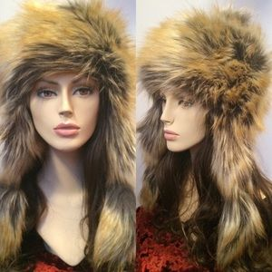 IMPOSTER Faux Fur Mongolian Hat, Summer Fox