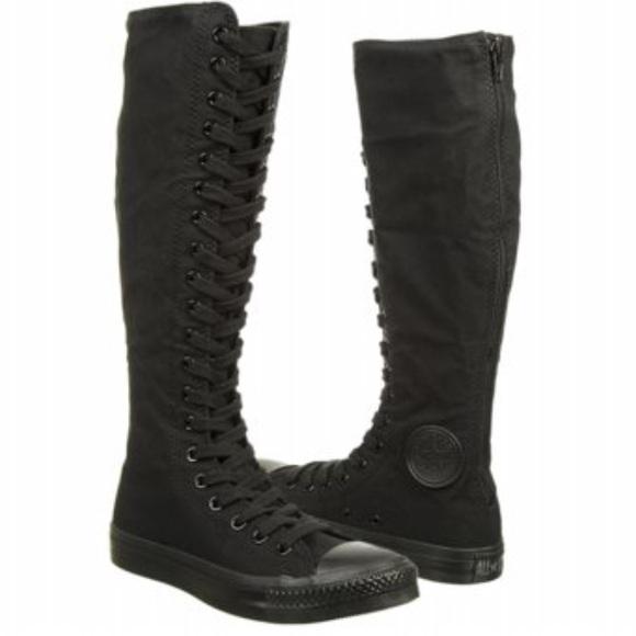 ef02d033215a Converse knee high black size 6