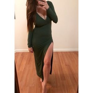 Dresses & Skirts - Olive High Slit Maxi Dress