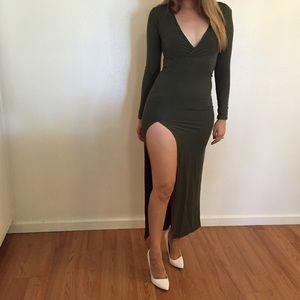 Dresses & Skirts - Olive High Slit Maxi Dress