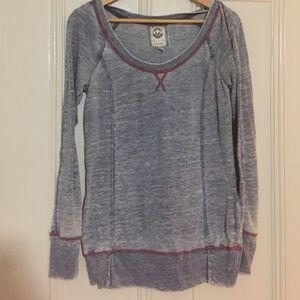 Lightweight boatneck sweatshirt