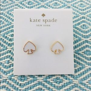 kate spade Jewelry - kate spade stud earrings gold white black