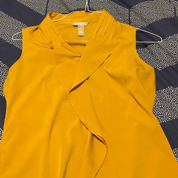 Yellow Blouse Banana Republic 30