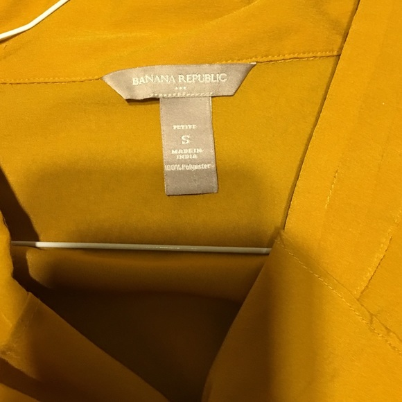 Yellow Blouse Banana Republic 23