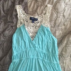 Lacey back, summer dress