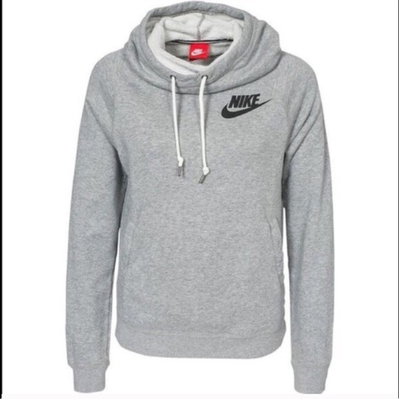 hot new products for whole family cozy fresh Grey Nike rally funnel neck hoodie size medium