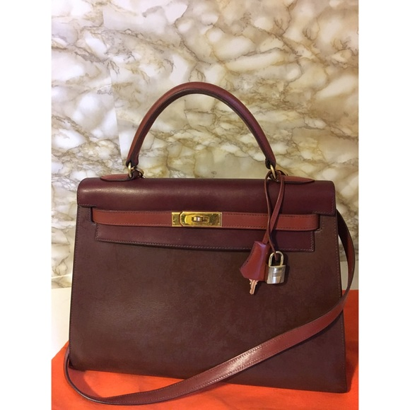 38f99dcddfb Hermes Handbags - Hermès Tricolor Kelly Sellier 32 box leather