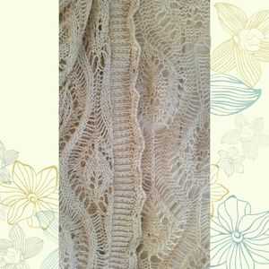 Sweet Kizz Sweaters - Beige Crocheted Shrug