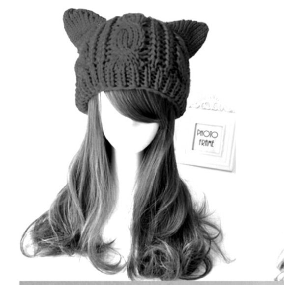 ! Cat Ears Beanie !  BLACK in stock! 3546f531246