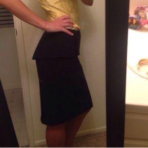 Gorgeous black tahari skirt with lining - new!