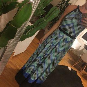 Anne Taylor Striped Maxi Dress - 0