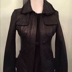 Calvin Klein Black Leather Jacket
