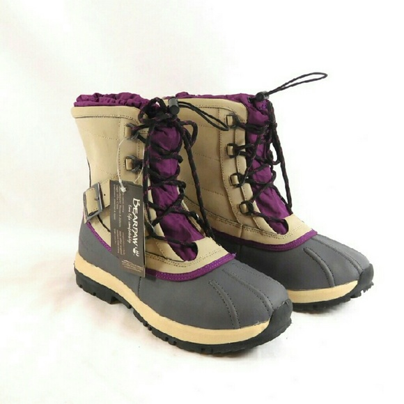 d28026da3f1 Bearpaw Nelly Waterproof Lace-up Winter Boots NWT