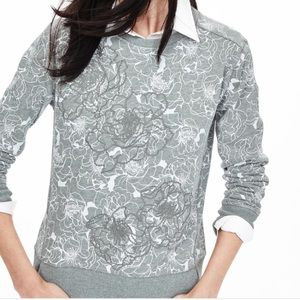 NWOT Banana Republic floral appliqué sweatshirt
