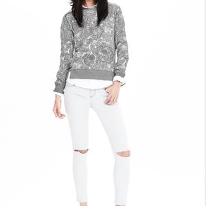 Banana Republic Tops - NWOT Banana Republic floral appliqué sweatshirt